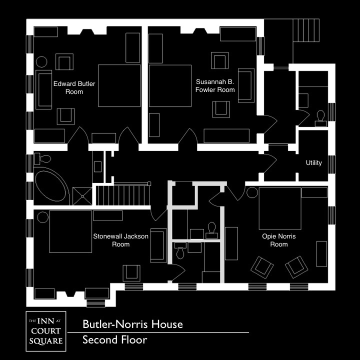 Butler Norris Room, The Inn at Court Square, Charlottesville, Virginia